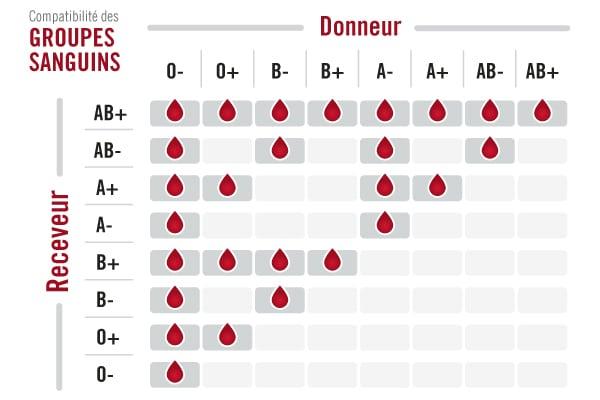 groupe sanguin compatibilité